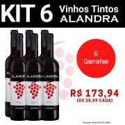 Kit 6 Vinhos Tintos Alandra Esporão  - 750ml -