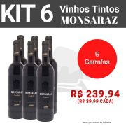 Kit 6 Vinhos Tintos Monsaraz Carmim
