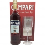 Kit Campari 900ml + Taça