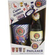 Kit Cerveja Paulaner Hefe-Weissbier Naturtrüb 500ml + 1 Copo Colecionável