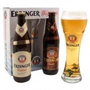 Kit Erdinger Weissbrau Com 2 Cervejas 500ml + 1 Copo 500ml