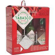 Kit Molho de Pimenta Tabasco Com 3 Sabores + Suporte Comemorativo Tabasco