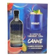 Kit Vodka Absolut + Caneca Exclusiva
