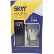 Kit Vodka Skyy 980ml + Copo
