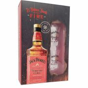 Kit Whisky Jack Daniel´s Fire 1L + 2 copos