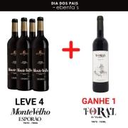 LEVE 4 Vinhos Monte Velho Tinto 750ml  + GANHE 1 Foral de Meda Tinto 750ml