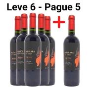 Leve 6 - Pague 5 Vinhos Tintos Máscara de Fuego Cabernet Sauvignon