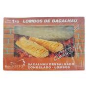 Lombos de Bacalhau Dessalgado Congelado CHURRASCO - Bom PORTO - 1kg