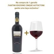 Vinho Tinto Fantini Edizione Cinque Autoctoni - 750ml  + 01 Taça Exclusiva