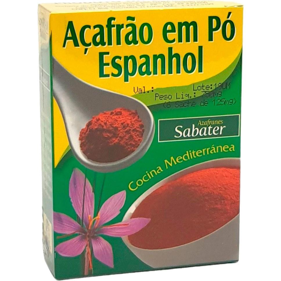Açafrão em Pó Espanhol Azafranes Sabater - 750mg -