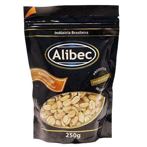 Amendoim sem Pele com Sal Alibec - 250g -