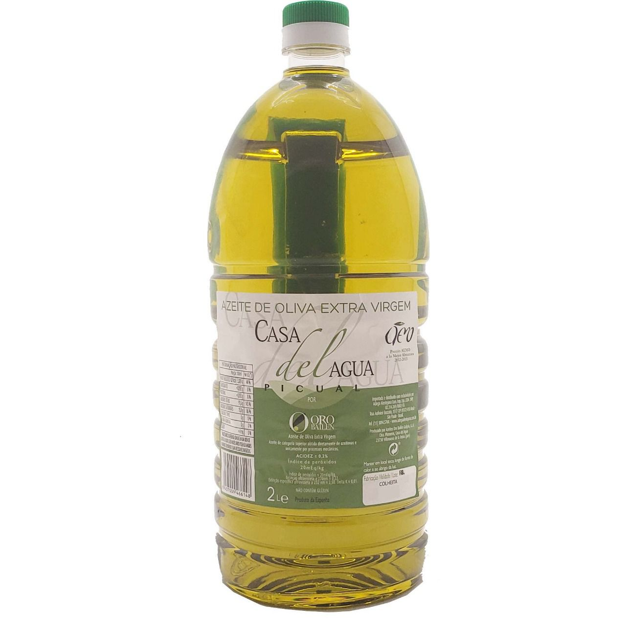 Azeite de Oliva Extra Virgem Casa Del Agua - 2L -
