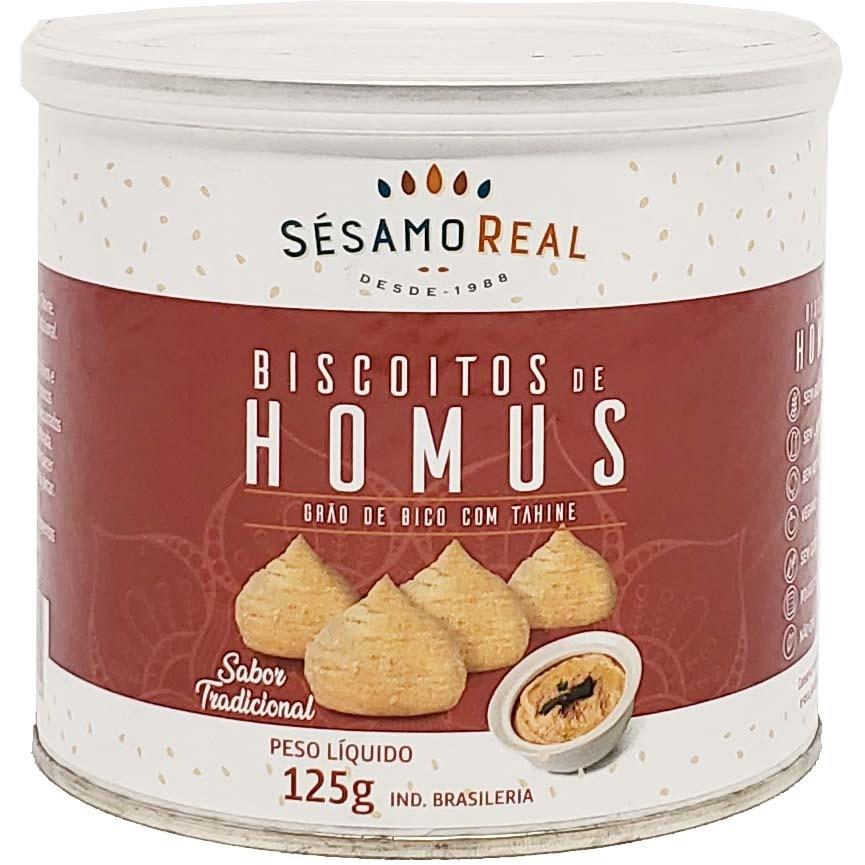 Biscoitos de Hommus Sésamo Real - 125g -