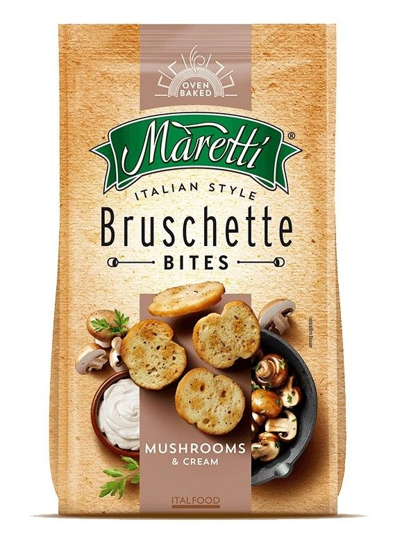 Bruschette bites - Mushrooms & cream - Maretti - 90g