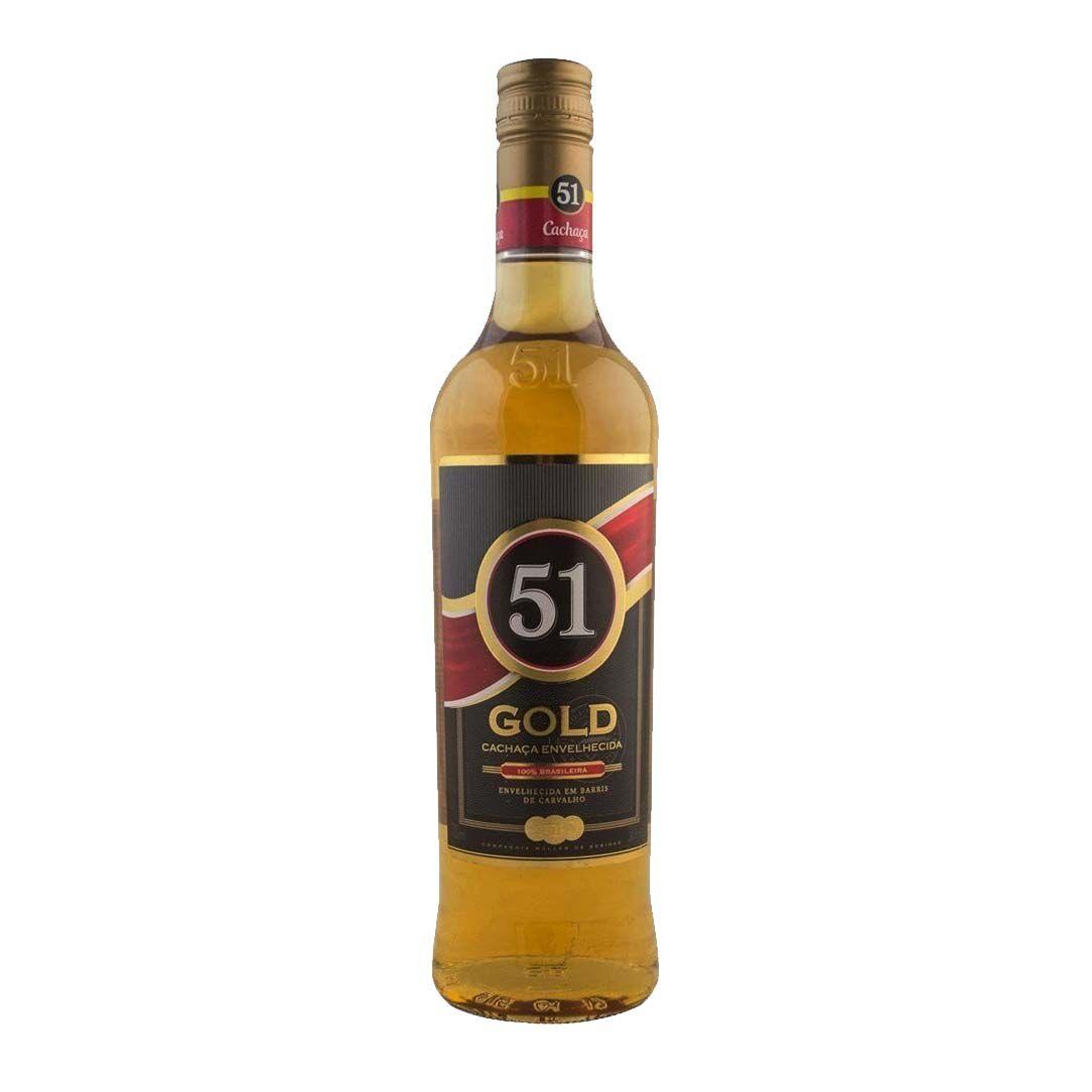 Cachaça 51 Gold  Envelhecida - 700ml -