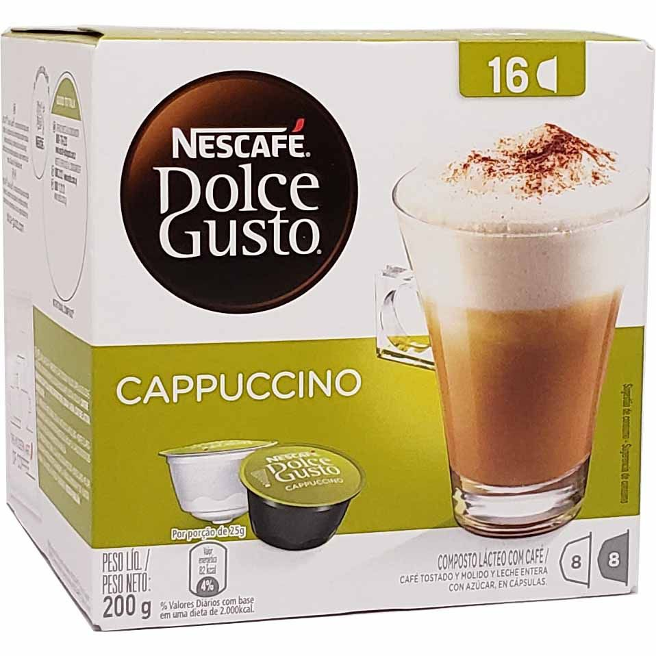 Café em Cápsula Dolce Gusto Cappuccino Nescafé - 200g -