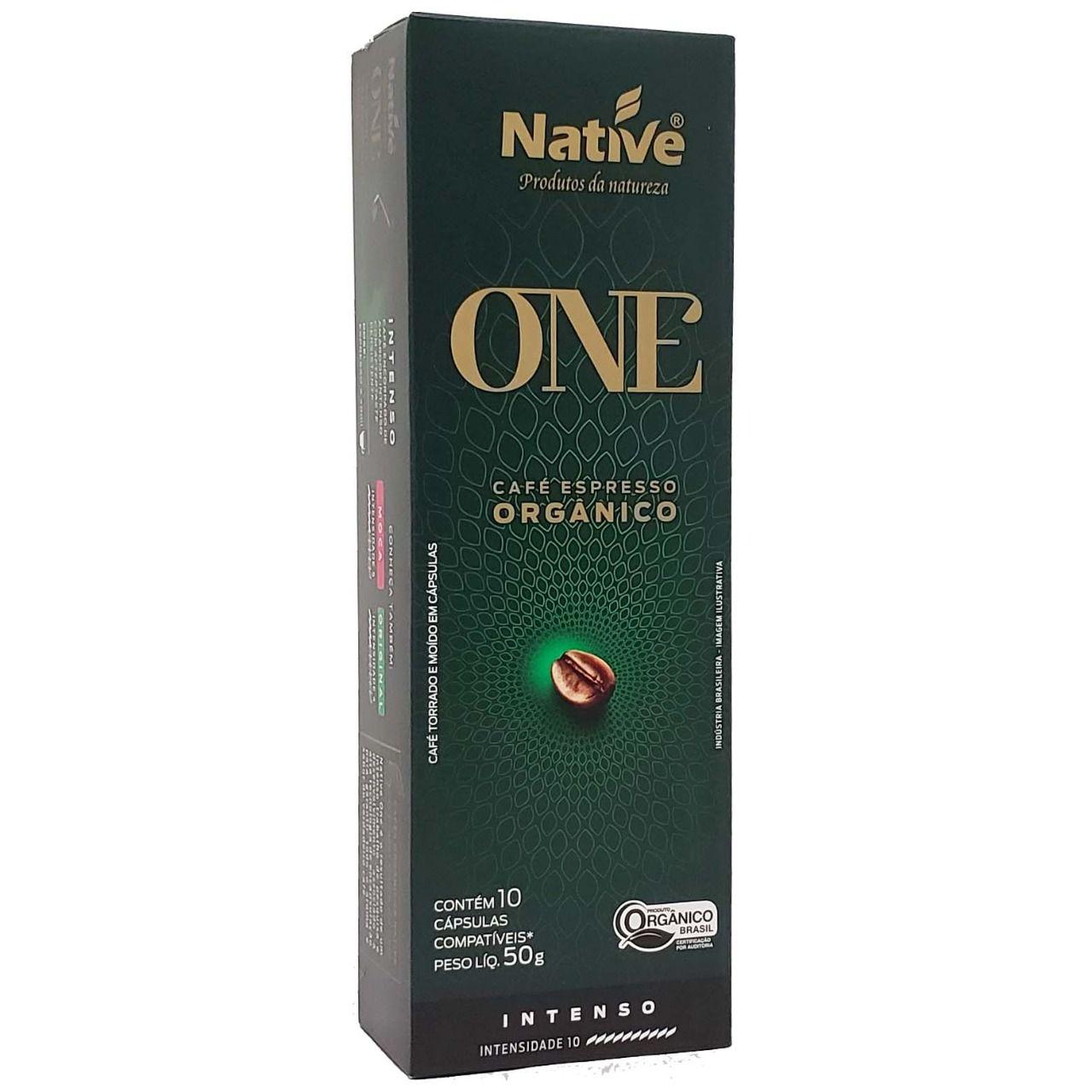 Café em Cápsulas Espresso Orgânico Intenso Native - 10 x 50g -