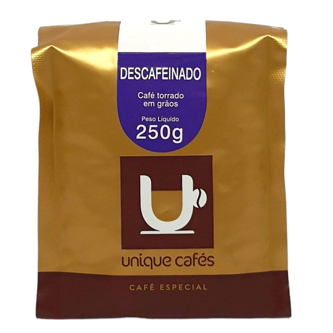 Café Especial Em Grãos Descafeinado Unique Cafés - 250g -