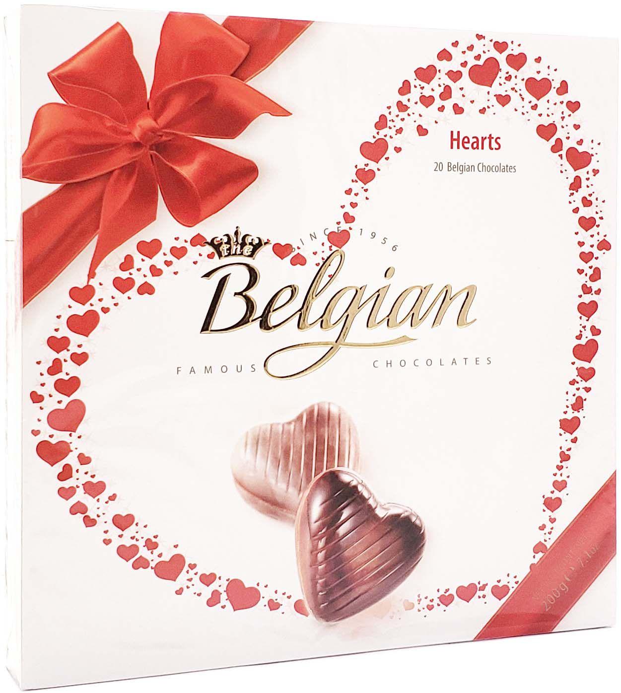 Caixa de Chocolate Belgian Hearts - 200g -