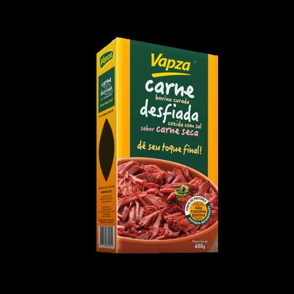 Carne Bovina Curada Cozida Desfiada Vapza - 400g -