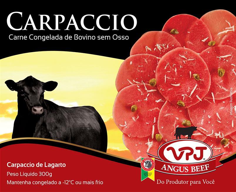 Carpaccio de Largato - Angus Beef - VPJ - 300g