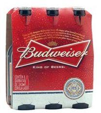 Pack Cerveja Budweiser Long Neck com 6 unidades - 330ml -