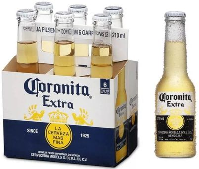 Pack Cerveja Coronita Extra Long Neck com 6 unidades - 210ml -