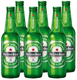 Pack Cerveja Heineken Long Neck com 6 unidades - 330ml -