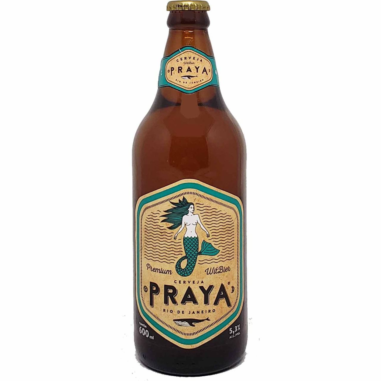 Cerveja Praya Premium Witbier Rio de Janeiro - 600ml -