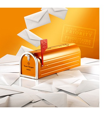 Champagne Veuve Clicquot Mailbox Edição Limitada - 750ml -
