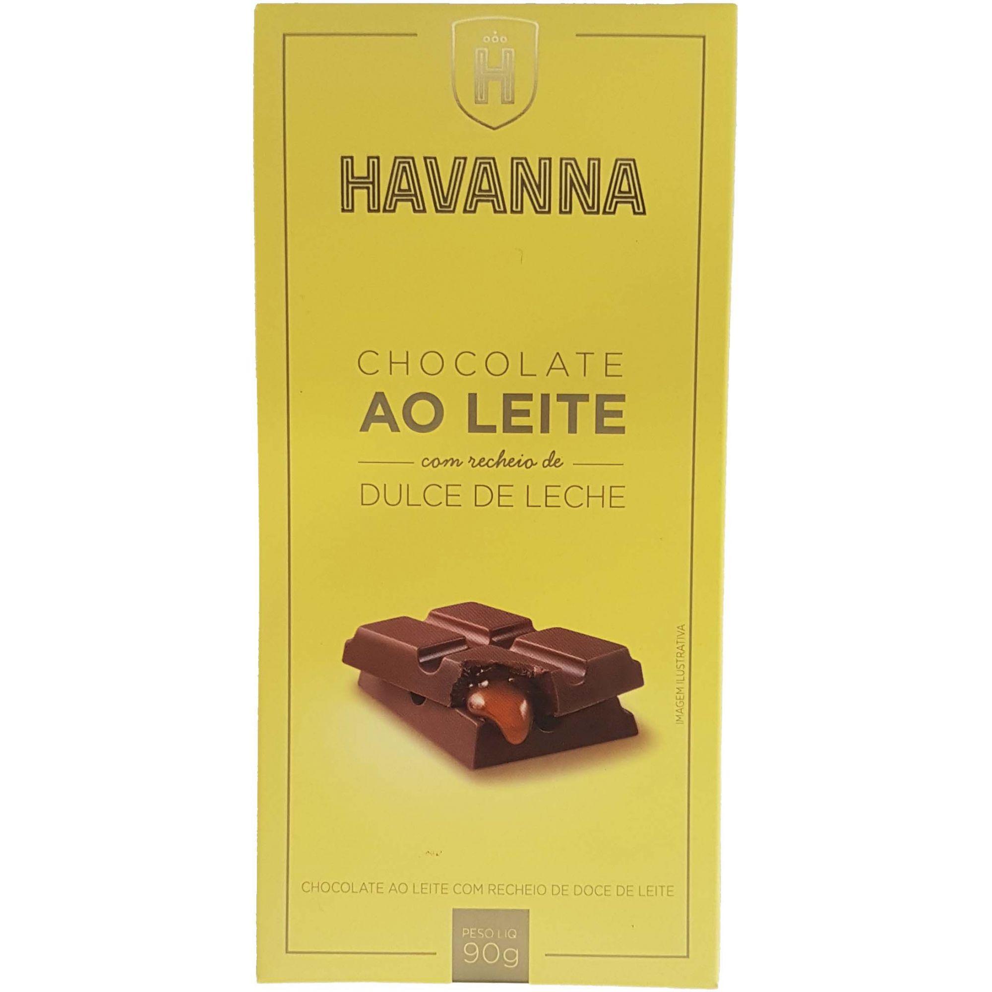 Chocolate Havanna Ao Leite Com Recheio de Dolce de Leite - 90g -