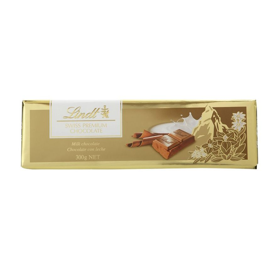 Chocolate Lindt ao Leite Gold Bar Milk Suiça 300g