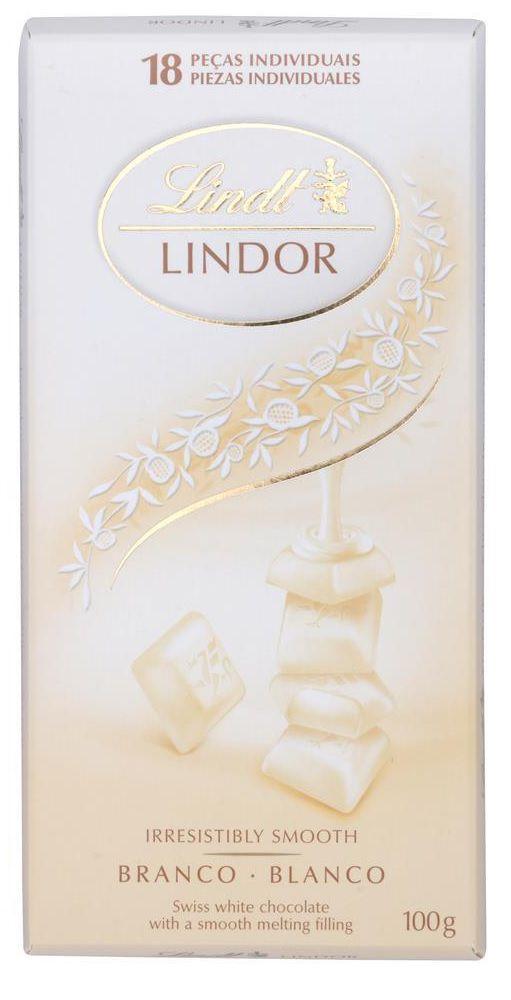 Chocolate Lindt Lindor Branco - 100g -
