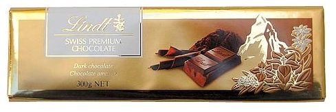 Chocolate Lindt Amargo Gold Bar Sufin - 300g -