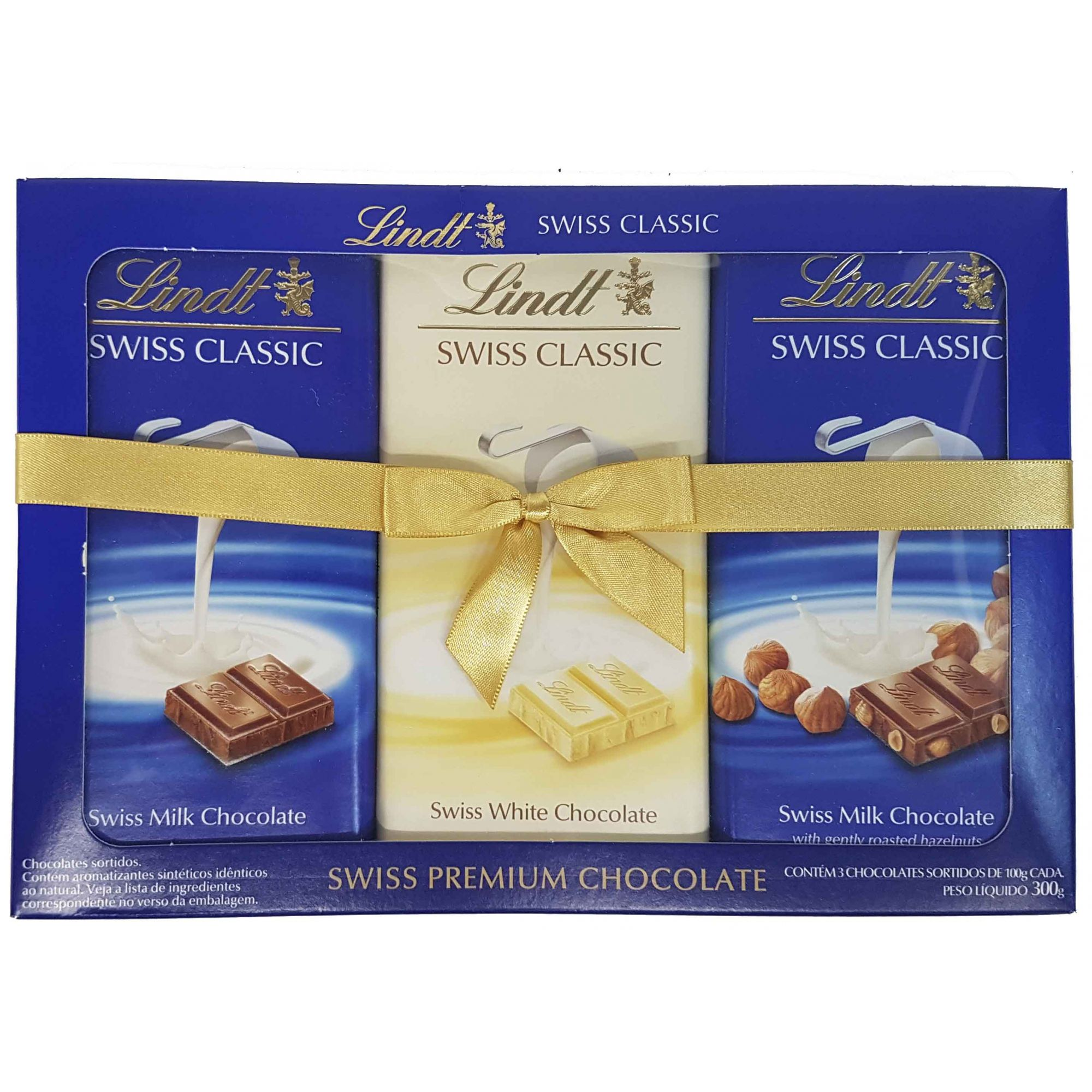 Chocolate Lindt Swiss Classic Sortidos 3 unidades - 300g -