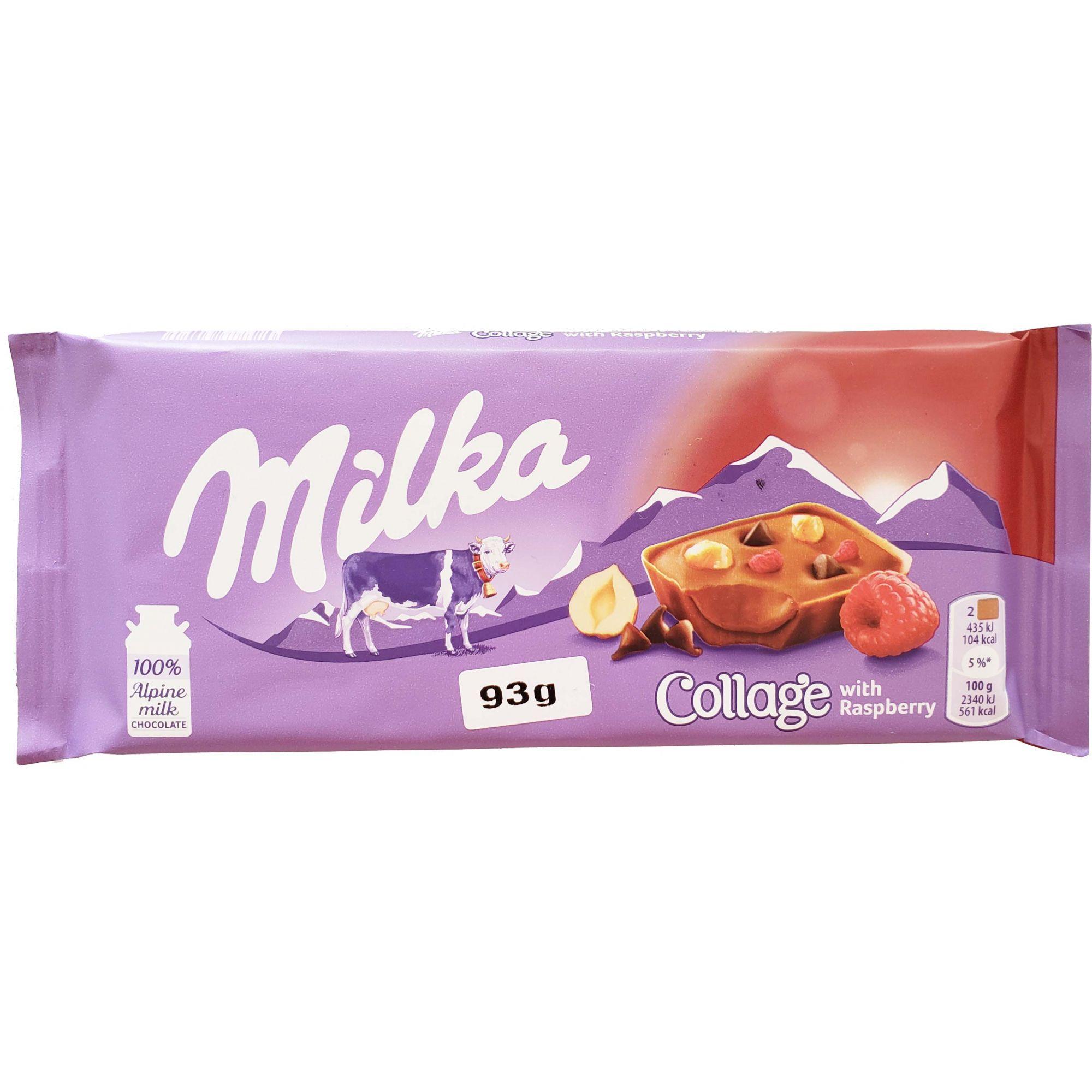 Chocolate Milka Collage Raspberry - 93g -