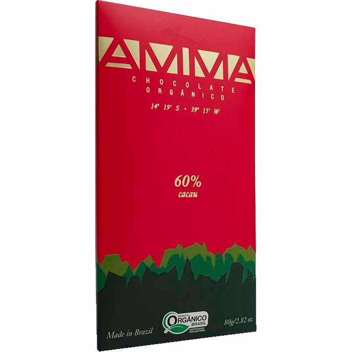 Chocolate Orgânico 60% Amma - 80g -