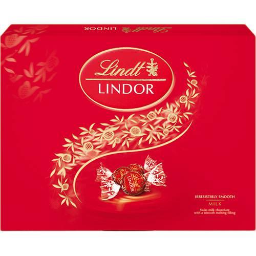 Chocolate Suíço Lindor Balls Milk Lindt 300g