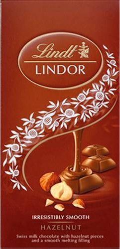 Chocolate Suíço Lindt Lindor Hazelnut Avelã - 100g -