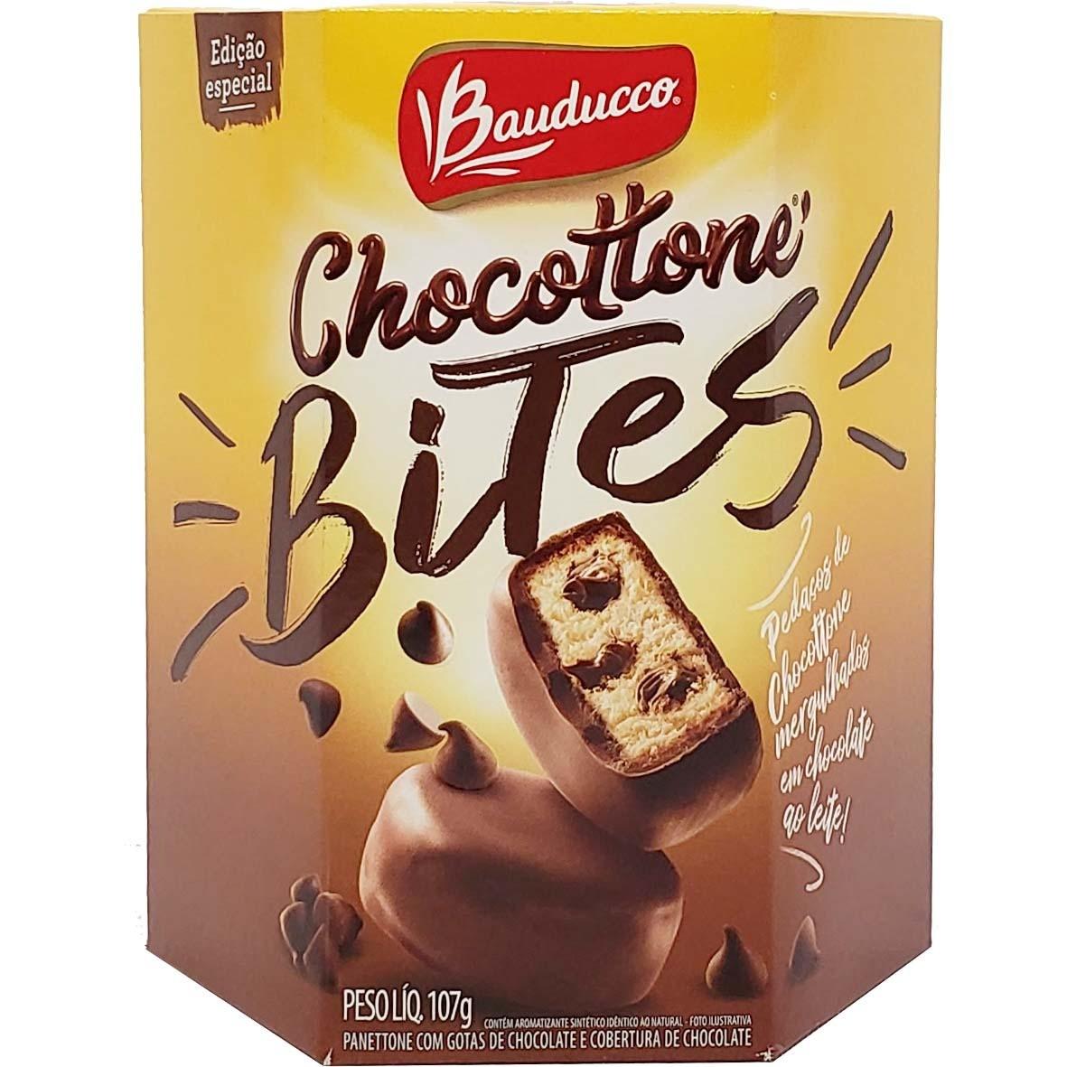 Chocottone Bites com Cobertura de Chocolate Bauducco - 107g -