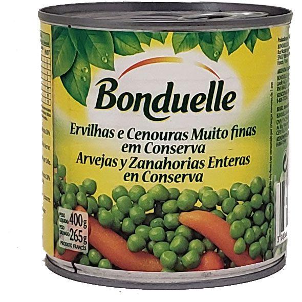 Ervilhas e Cenouras Muito Finas Em Conserva Bonduelle - 400g -