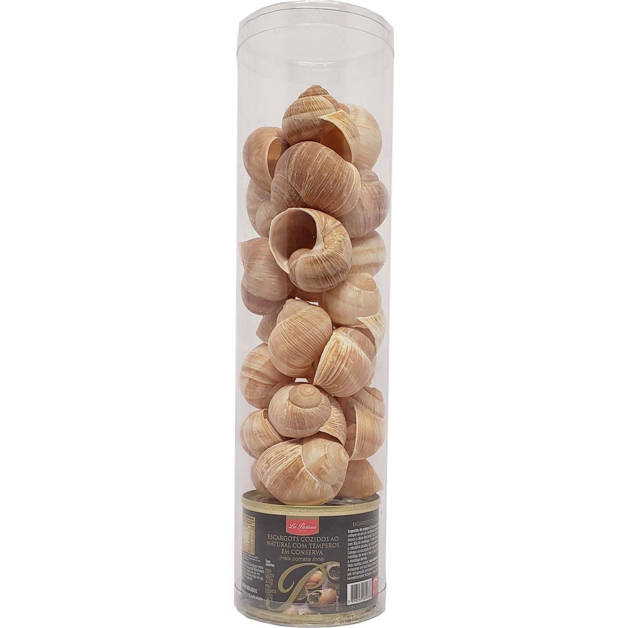 Escargots cozidos ao natural com temperos em conserva - 200g -