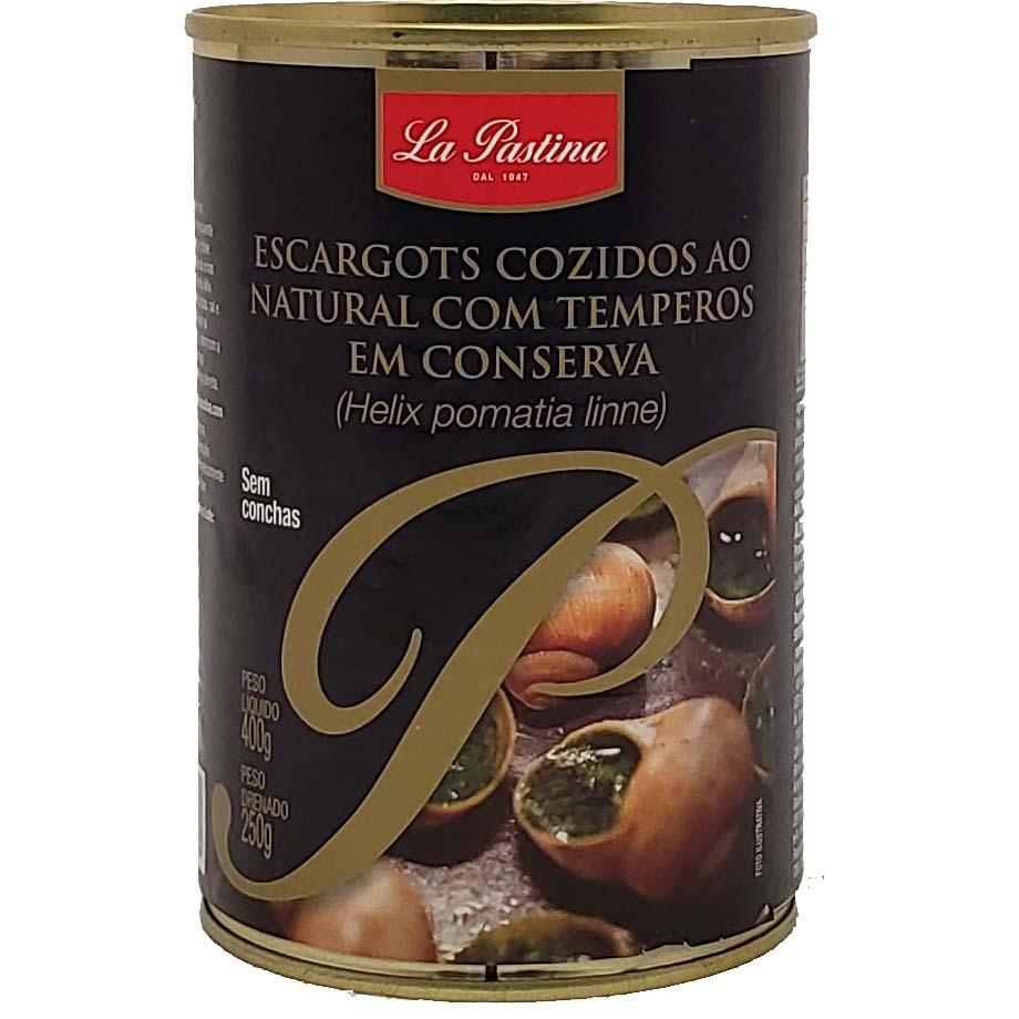 Escargots cozidos ao natural com temperos em conserva - 400g -