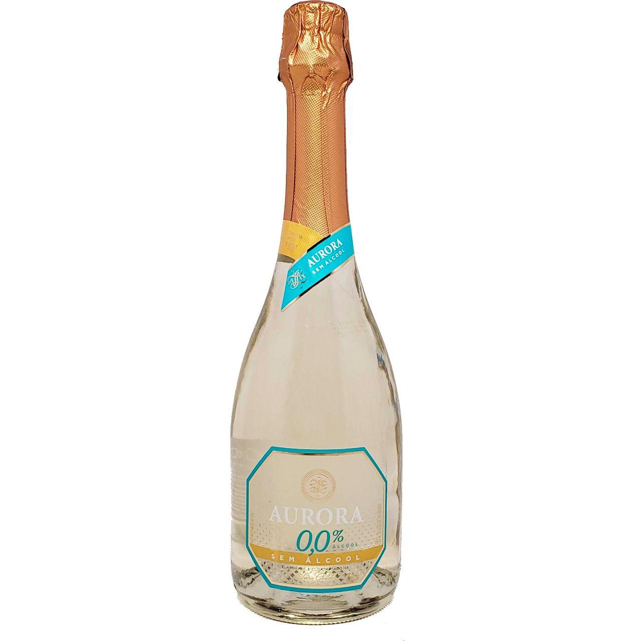 Vinho Espumante Branco Aurora Sem Álcool - 750ml -