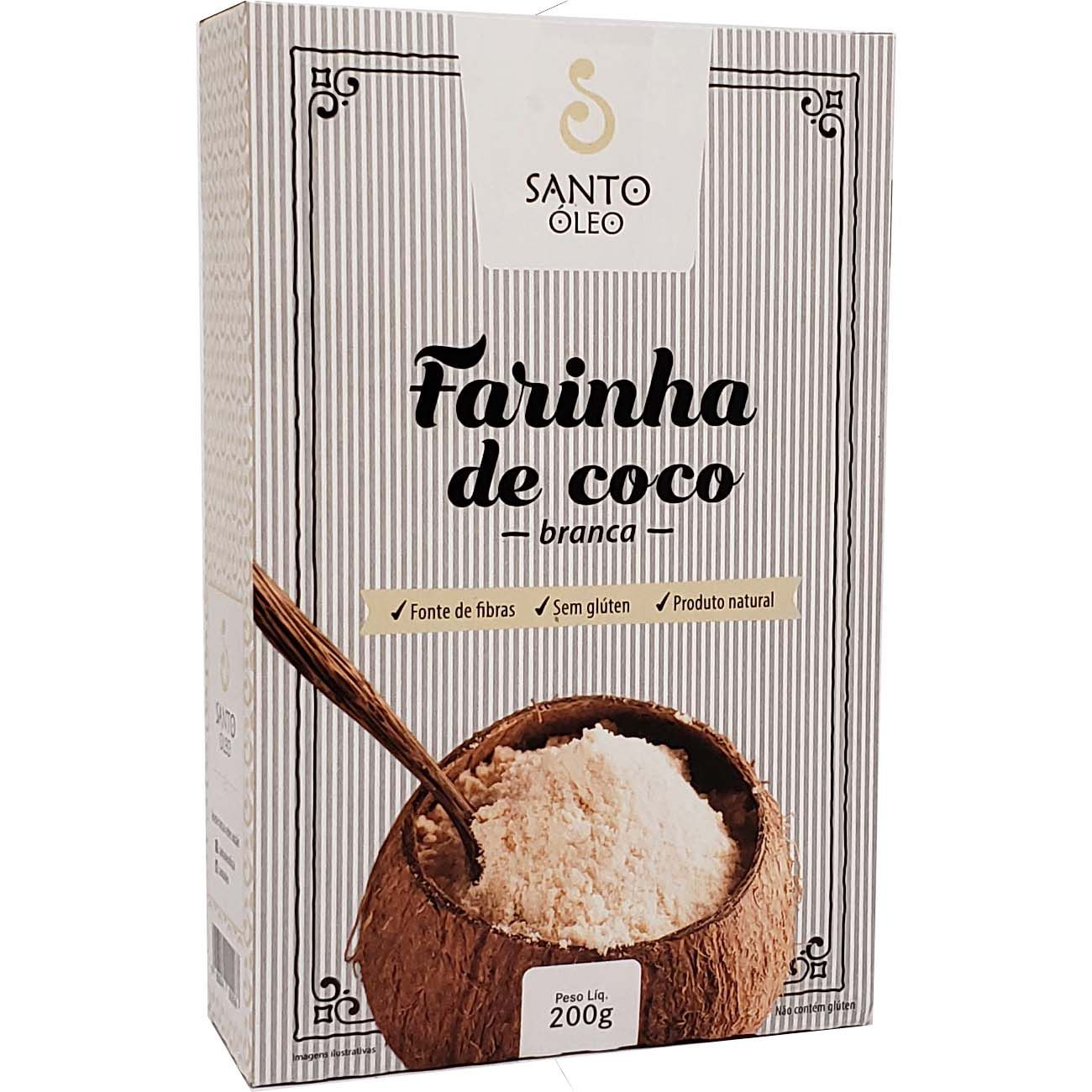 Farinha de Coco Branca Santo Óleo - 200g -