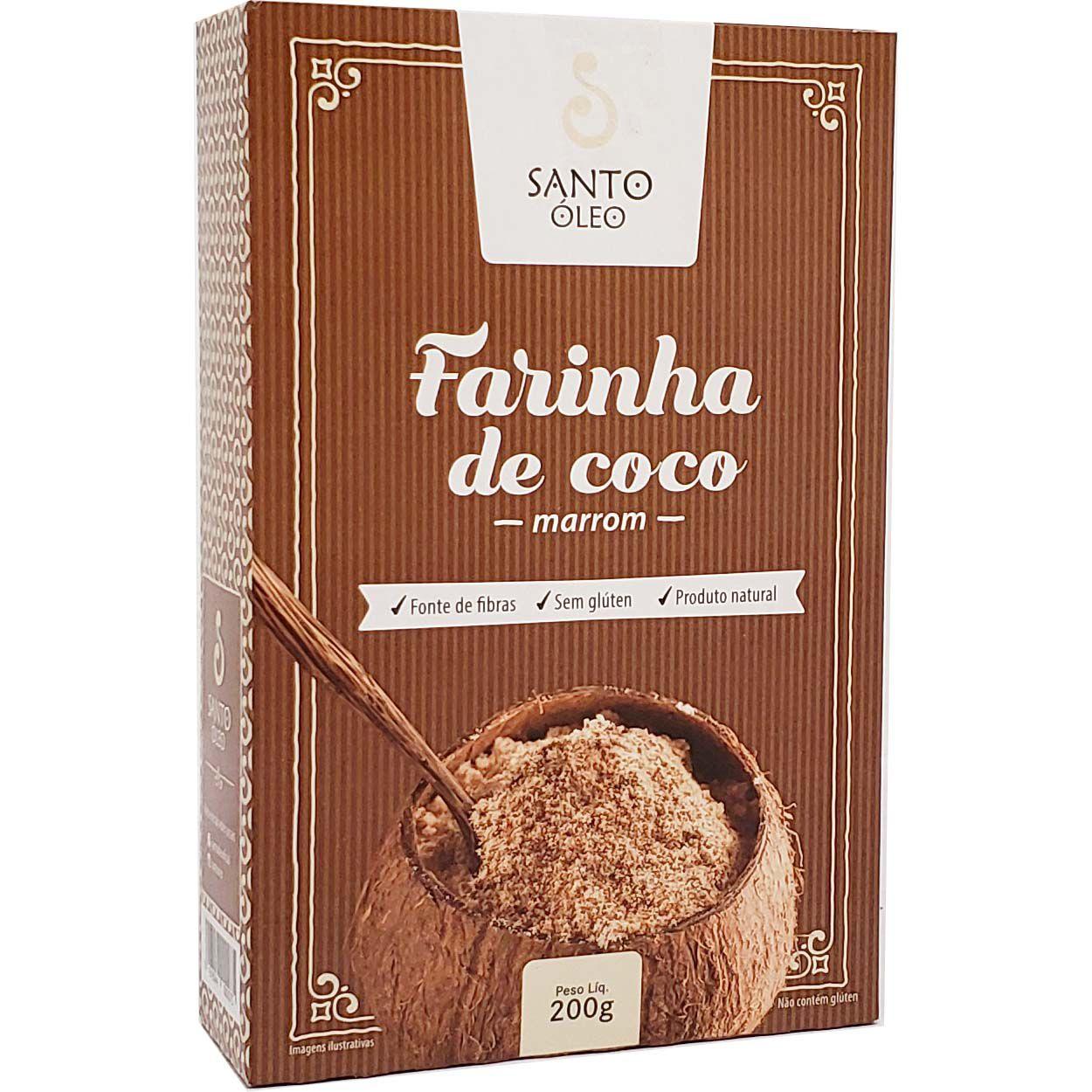 Farinha de Coco Marrom Santo Óleo - 200g -