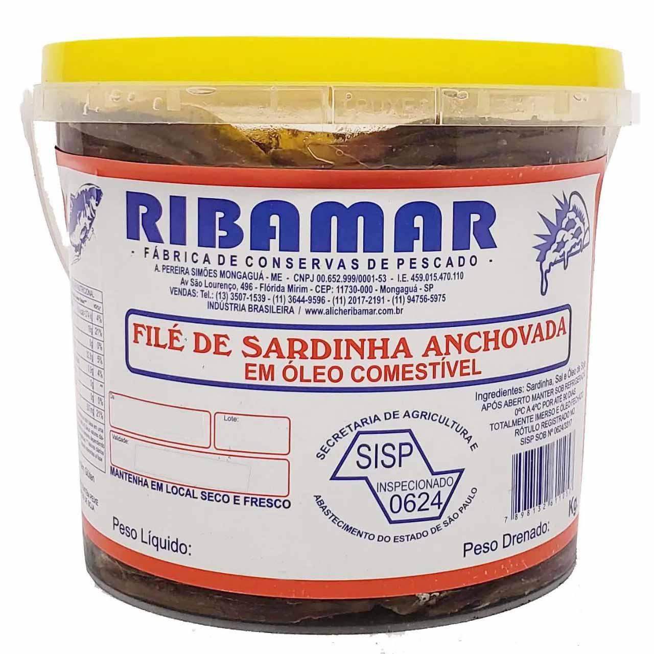 Filé de Sardinha Anchovada Ribamar - 2,1kg -