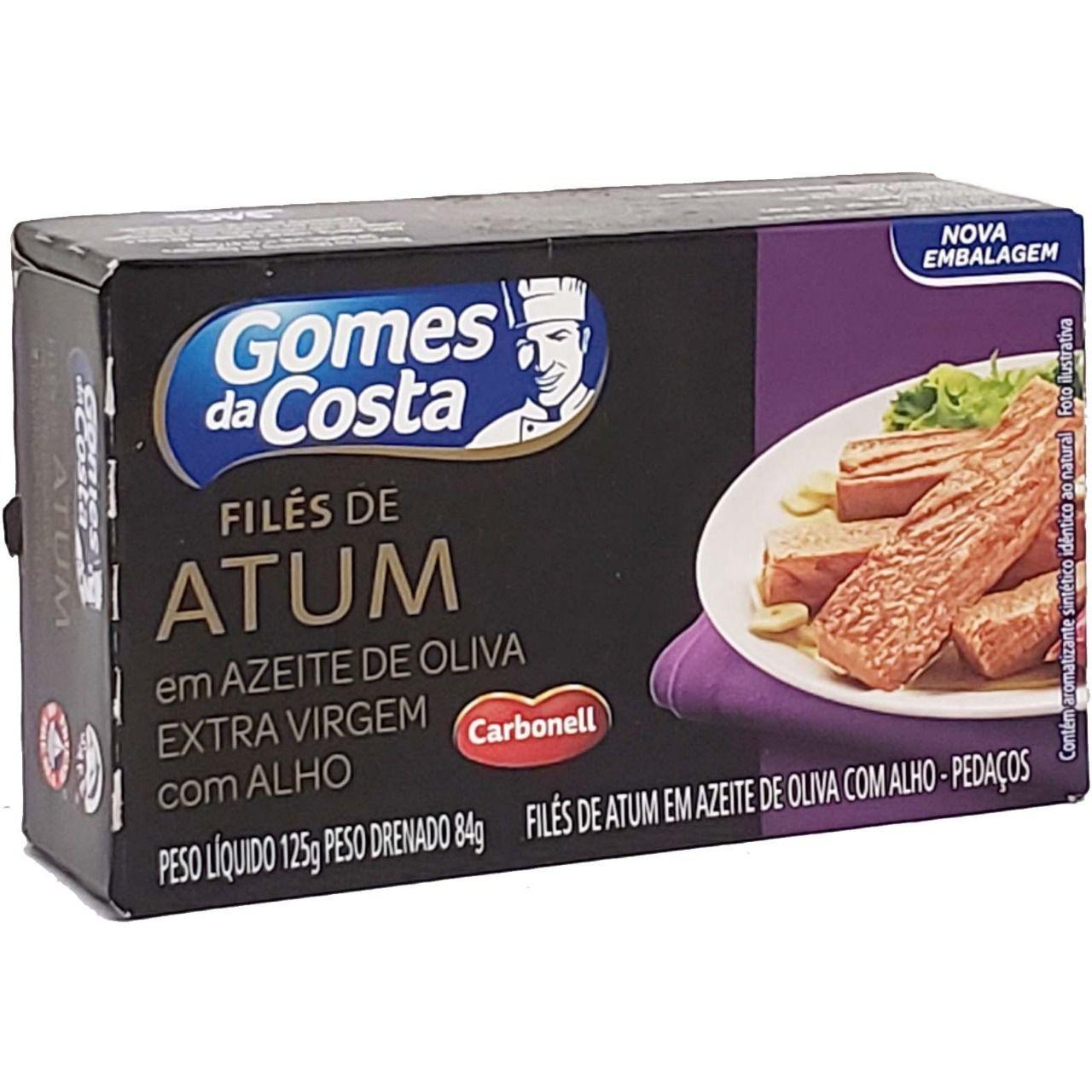 Filés de Atum em Azeite de Oliva Extra Virgem com Alho Gomes da Costa - 125g