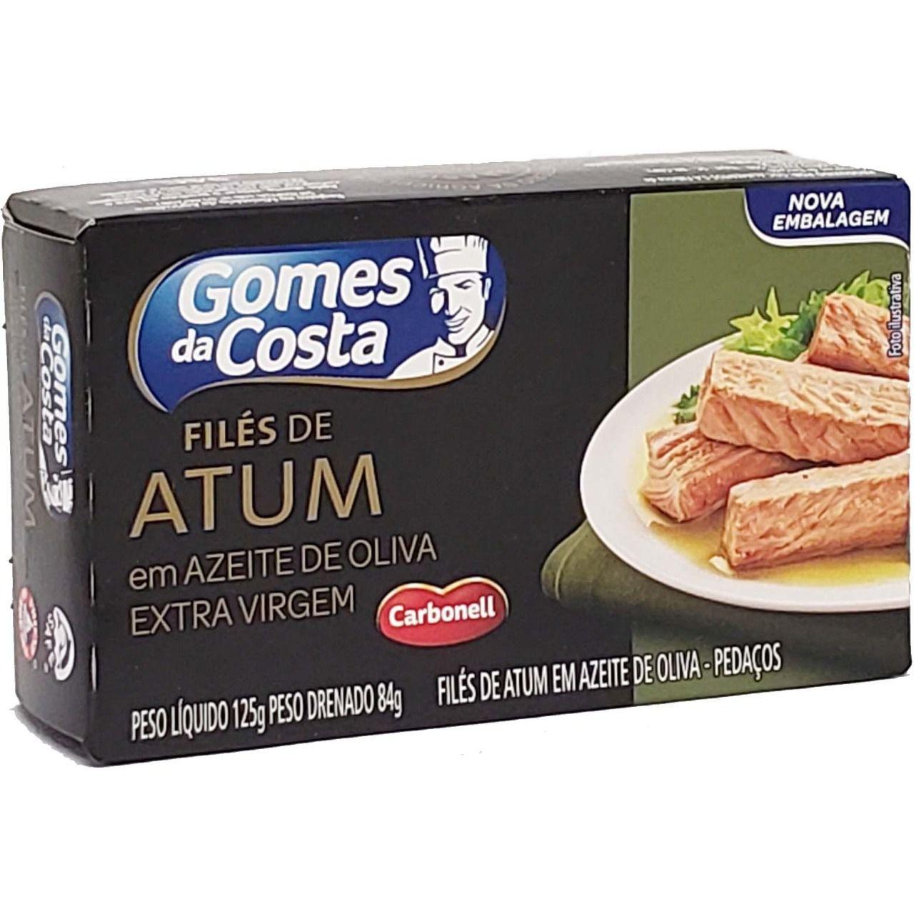 Filés de Atum em Azeite de Oliva Extra Virgem Gomes da Costa - 125g