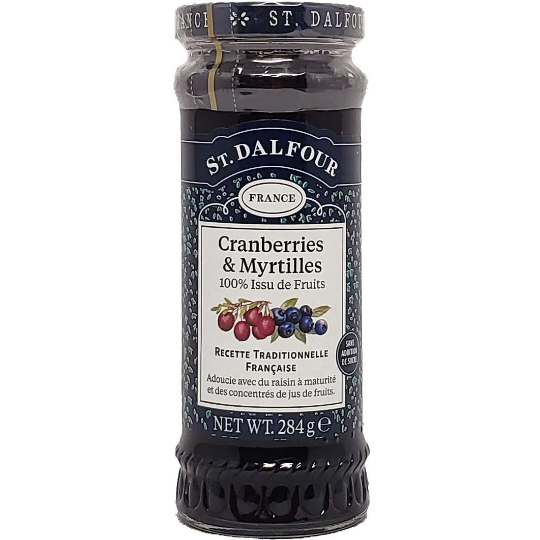 Geleia Cranberries & Myrtilles St. Dalfour France - 284g -